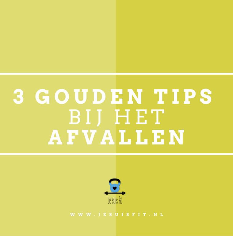 3 gouden tips bij het afvallen
